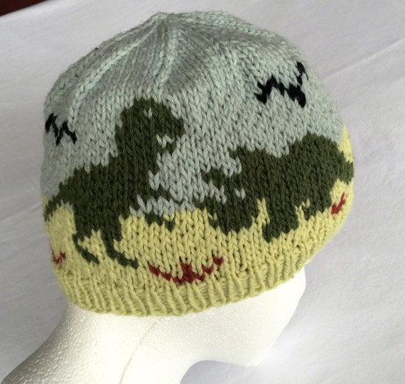 Dinosaurs Hat Knitting Pattern Original Design  16912395e8f