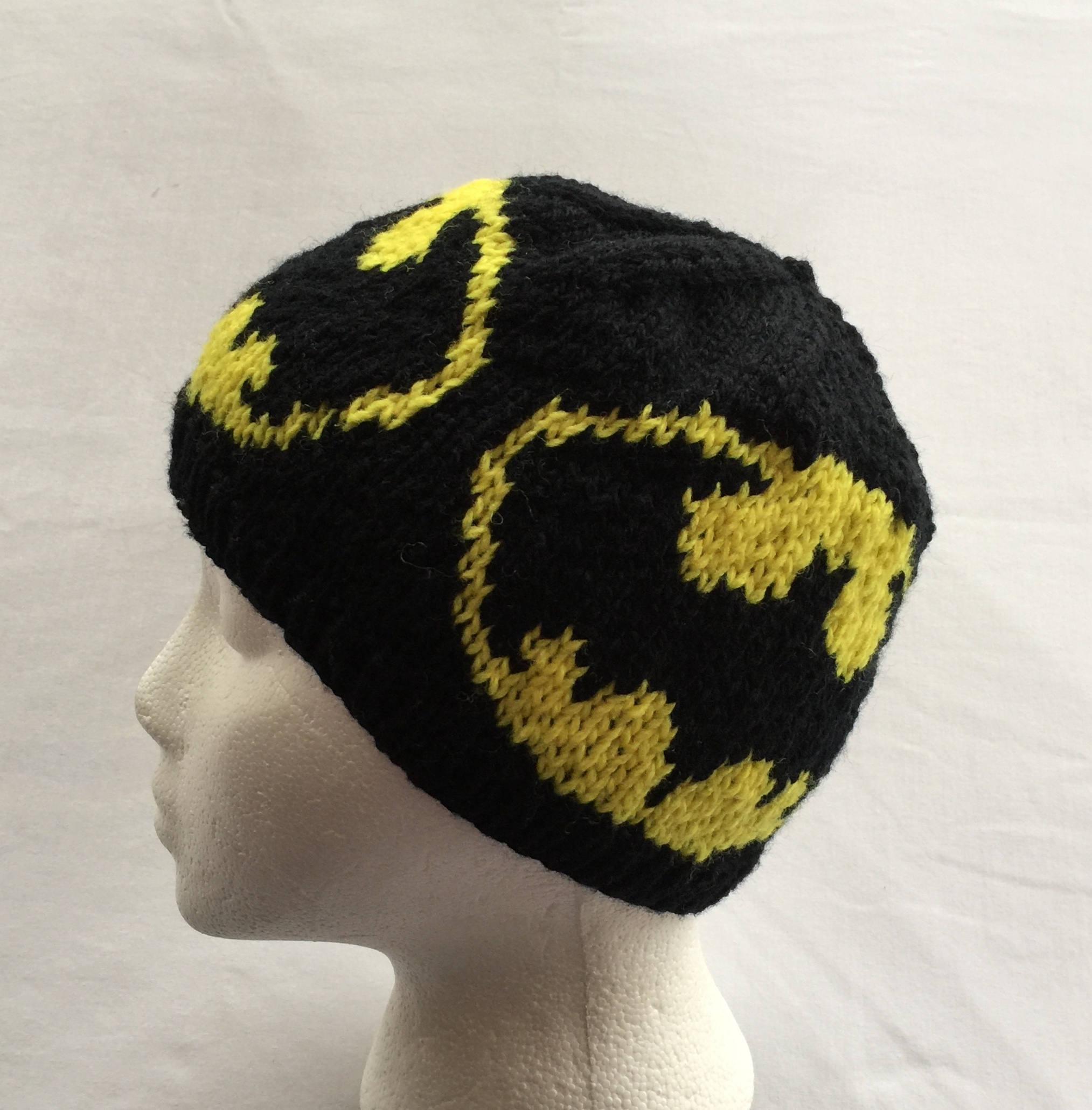 Batman Winter Hat Batman Beanie Knitting Pattern Etsy