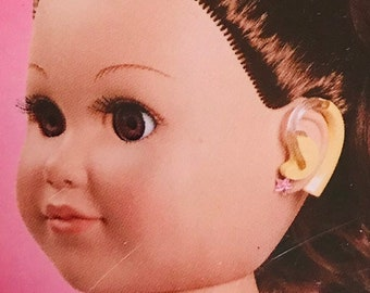 """My Life As *1 PAIR HEARING AIDS* For 18/"""" Doll Earring Impaired Implant Stickers"""
