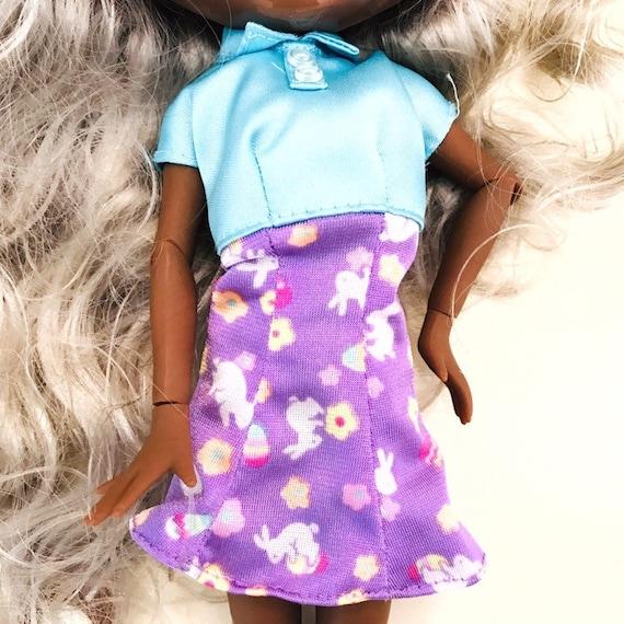bfc38fae0c6ec Doll Dress, Barbie, Blythe, Easter Dress, Mattel, Doll Clothes, Barbie  Clothes, Blythe Clothes, 12 inch Doll, Easter Bunny, Easter Egg