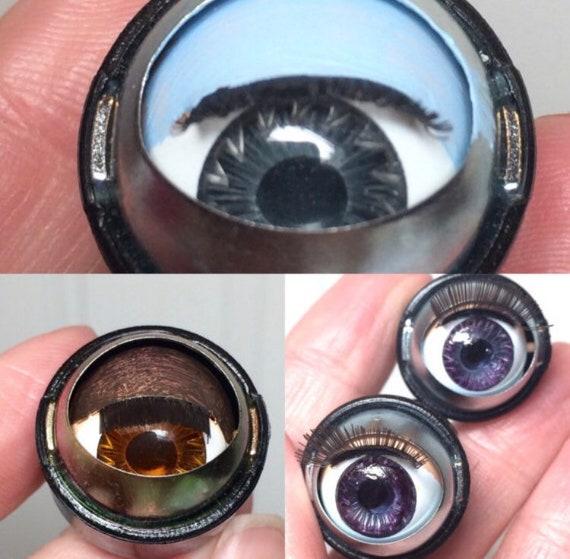 Doll Sleep Moving Eyes 27mm Blue Vinyl Doll Eyes Replacement Repair Fix   Make