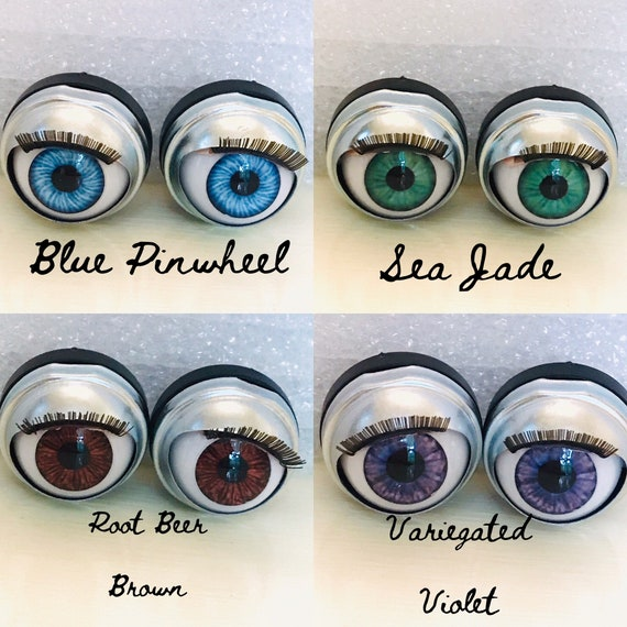 Lt Brown Doll Eyes *5 Custom 13mm will fit American Girls bitty baby