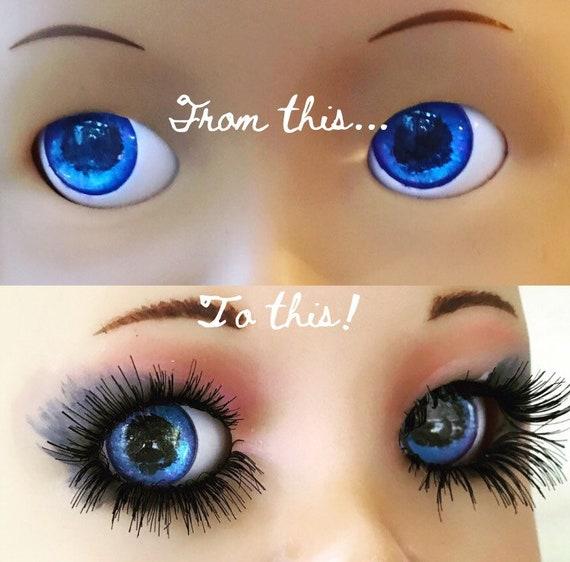 Doll Eyelashes Tutorial Doll Making Doll Repair Replace Etsy