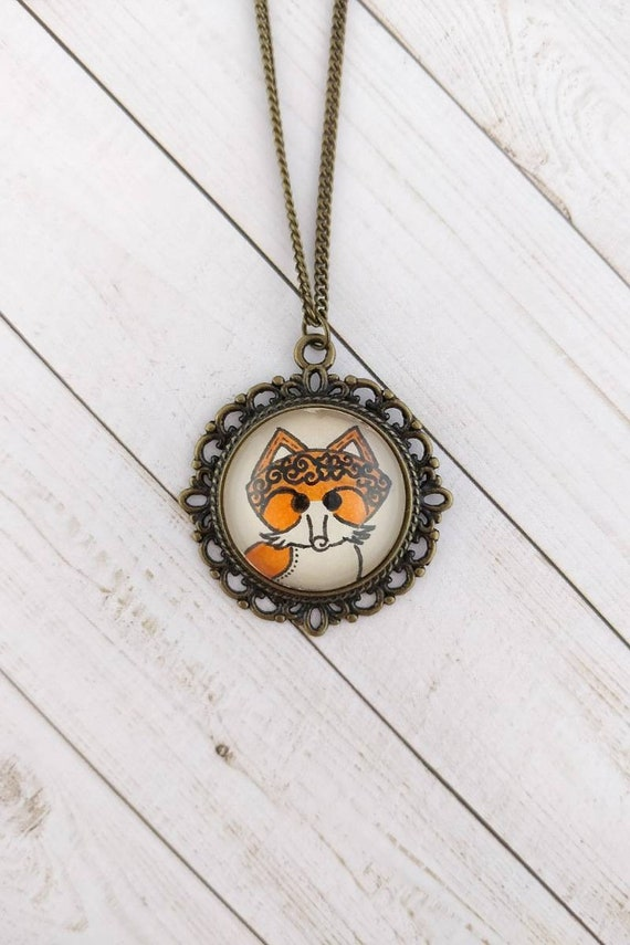 Rhodium-plated 925 Silver Fox Pendant with 24 Necklace Jewels Obsession Fox Necklace