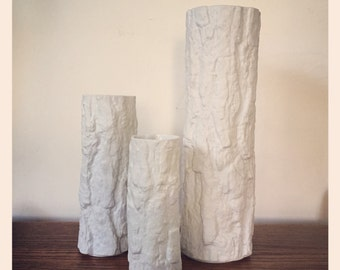 Set of Three Bareuther Op-Art Vases 70's