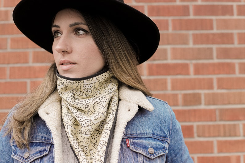 winter collar Bandana scarves gift ideas Unisex scarves Winter accessories country style scarf accessories Bandanas scarf Bandanas