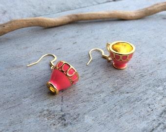 Womens jewellery,Tea lovers earrings,Tea cup earrings,Novelty earrings,Afternoon tea earrings,Mad Hatter tea party,Alice in Wonderland,gift.