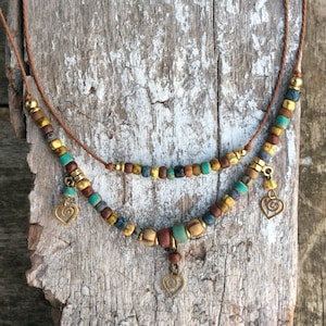 Boho necklace,Earth mother necklace,Modern jewellery,Bohemian necklace,Rustic necklace,Hippie necklace,Native American Indian Jewelry,Tribal