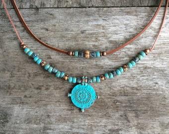 Boho necklace for women, Modern jewellery, Charm necklace, Bohemian necklace women, Tribal necklace, Boho jewelry for women