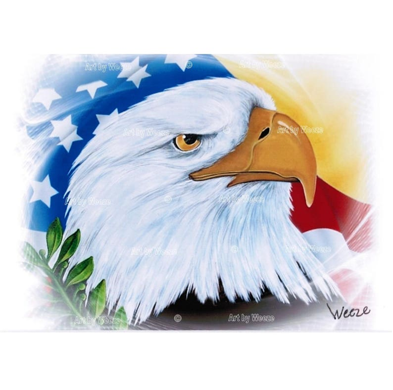 b7b8e9ba4416b Eagle Art Eagle Print Patriotic Eagle Art American Bald