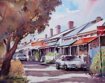 "Original watercolour painting ""McLaren Street, Adelaide, SA"""