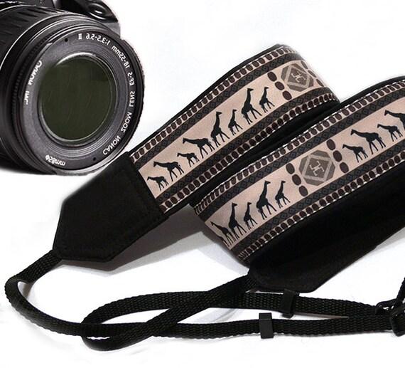 giraffe camera strap ethnic camera strap african camera