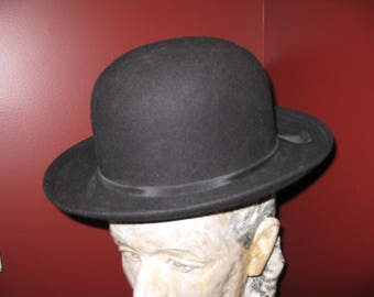 379078e5dbb GEORGE BOLLMAN BLACK Derby Hat Marked Doeskin Felt George Bollman Co There  Is No Size In The Hat Inside Opening Is 7 1 2