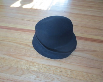 d5da3713db8 BLACK WOOL HAT Made In Italy
