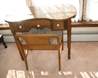 Bon Local Pick Up Walton N.Y. ART DECO BENCH And Antique Kidney Shaped Vanity  Table Local Pick Up Cannot Be Mailed Upholstered Seat On Bench