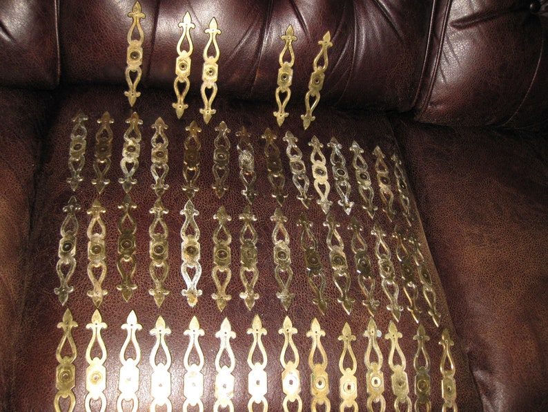 47 Back Plates 6 Long Screw Holes 4 12 On Center VINTAGE BACK PLATES For Drawer Pulls Brass Plates By Keeler Brass Co