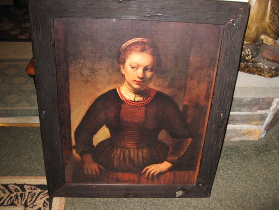 Young Girl In Open Half Door Vintage 1960s Donald Art Co Etsy