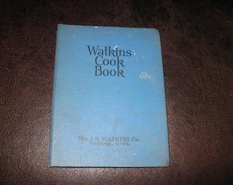 1938 WATKINS COOKBOOK The J.R. Watkins Co. Winona, Minn. Hardcover Spiral Binding 288 Pages