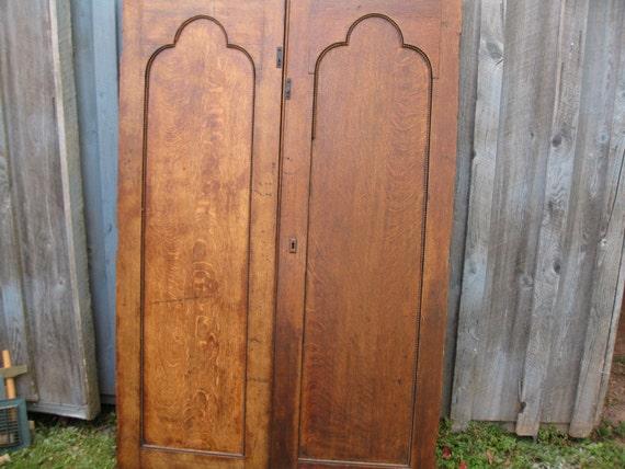 image 0 - ANTIQUE CHURCH DOORS Interior Oak Doors 64 1/2 Tall By Etsy