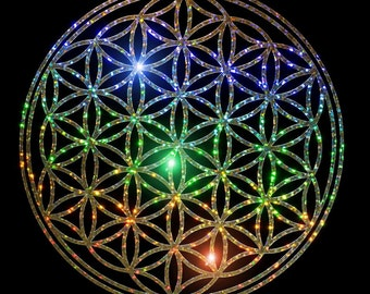 Sparkle Flower of Life  sticker, 5 colours to choose