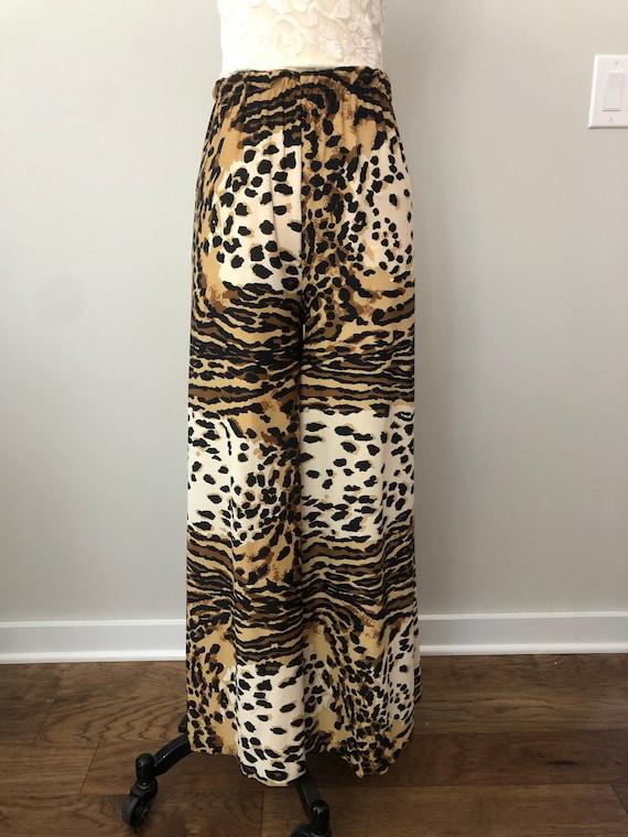 60's Leopard Palazzo Pants