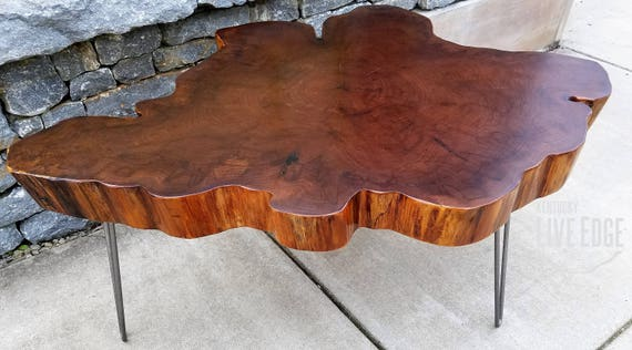 Big Round Coffee Table Live Edge Slab Table Tree Round Tree