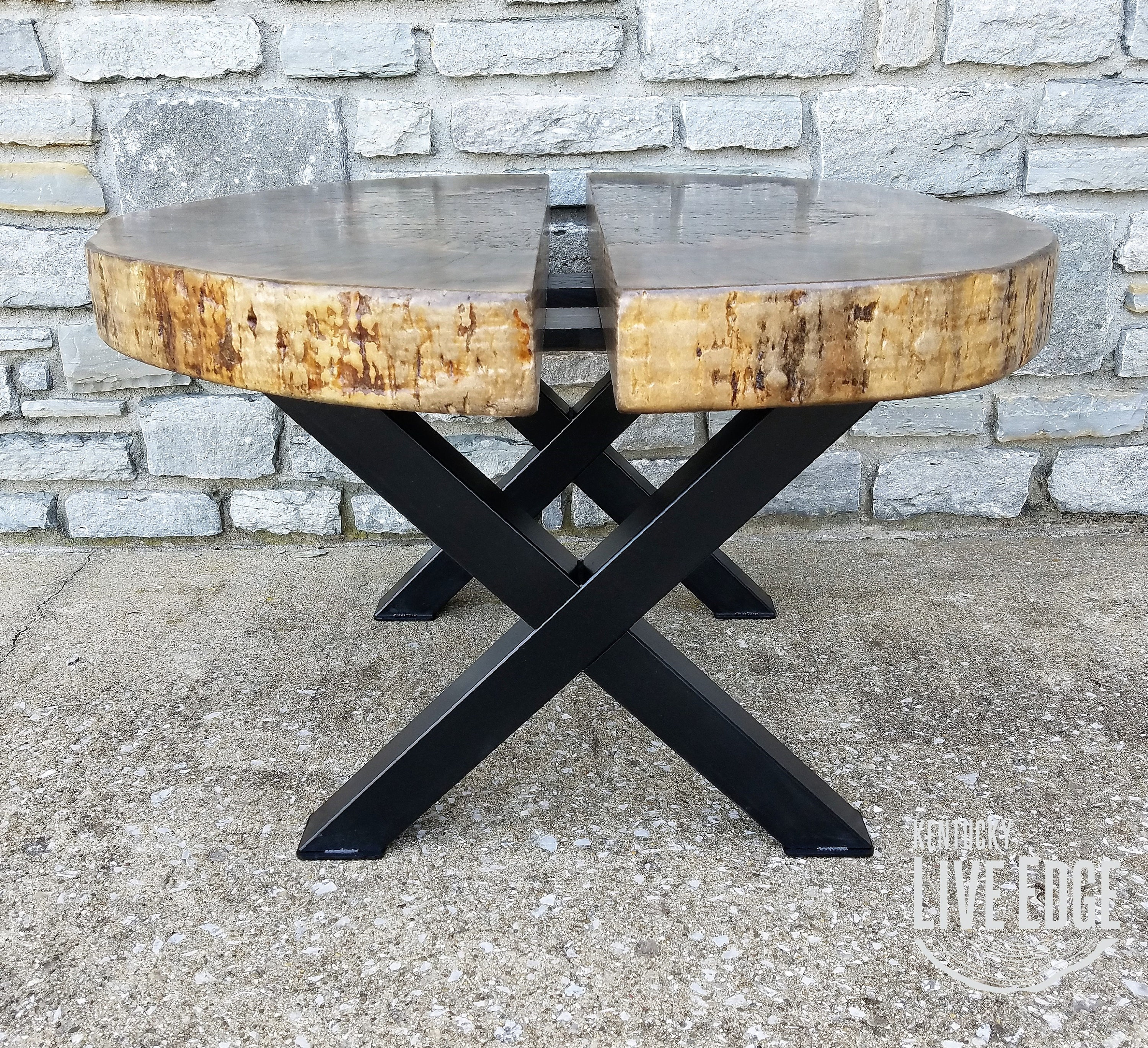 Etsy Round Coffee Tables: Modern Coffee Table Live Edge Tree Stump Round Coffee