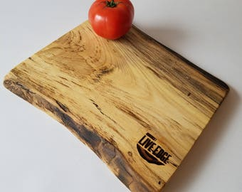 Reclaimed Wood- Serving Board- Charcuterie Board- Platter- Tray- Hackberry- Cream- Black- Blue- Spalted- Gift- Foodie- Chef- Kitchen- Unique