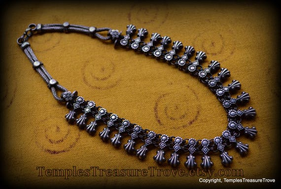 Antique Rajasthani Sterling Choker/ Heavy Sterling