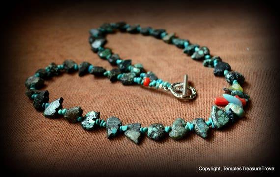 Zuni Bear Fetish Turquoise Necklace/Zuni Turquoise