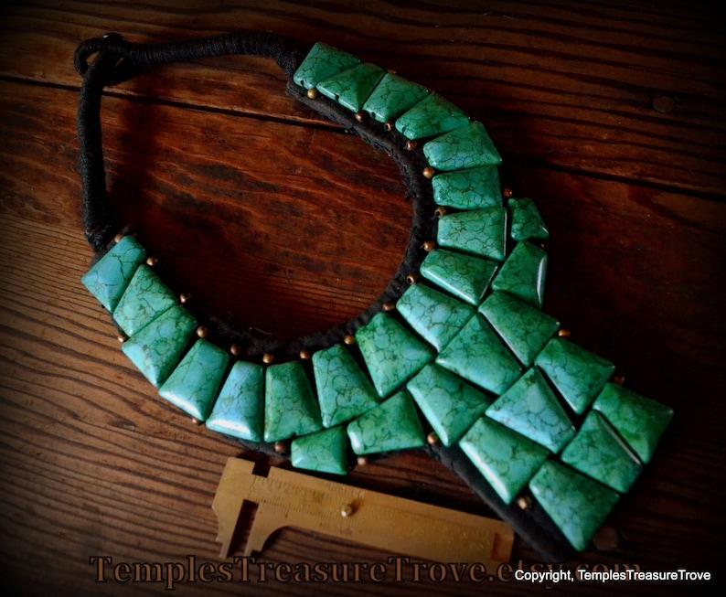 f5cdbfefd39 Sale OOAK Ladakh Turquoise Bib Necklace Northern India Ladakh