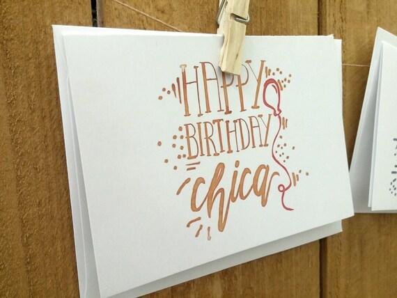 Happy Birthday Chica Greeting Card Bulk Birthday Cards Card Etsy