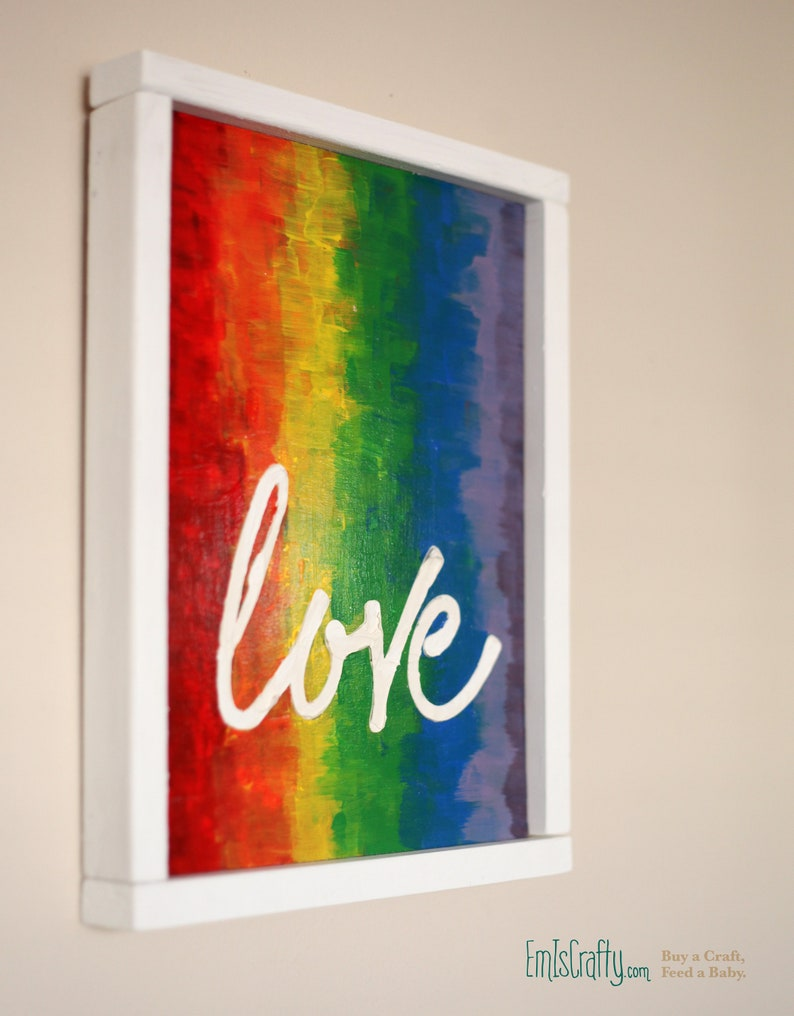 Love Decor LGBT Sign // Wall Decoration // Living Room Wall image 0