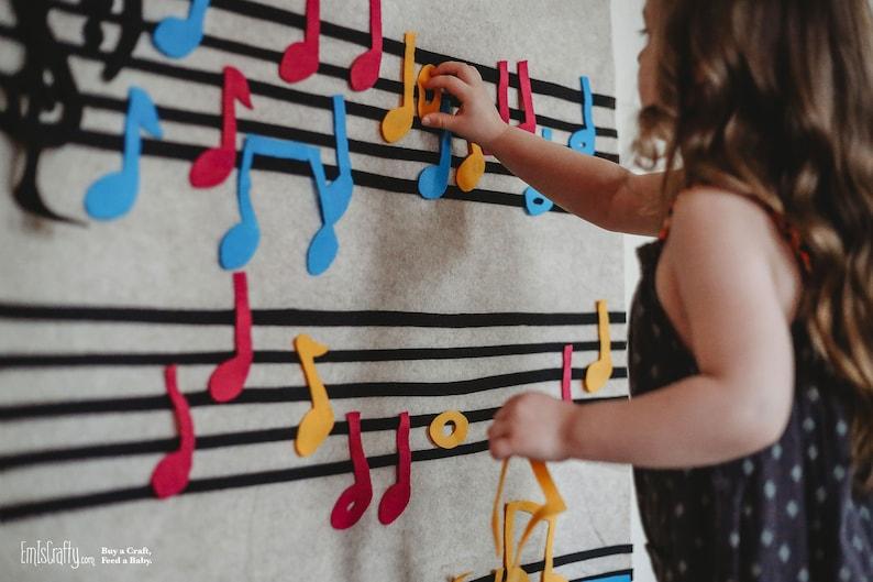 Montessori Learning Music Gift // Felt Board // Kids Gift Felt image 0