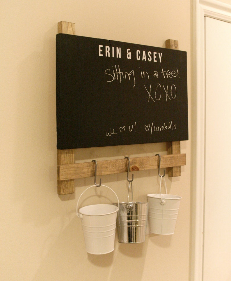 Wedding Gift Chalkboard Chalk Board // Command Center // image 0