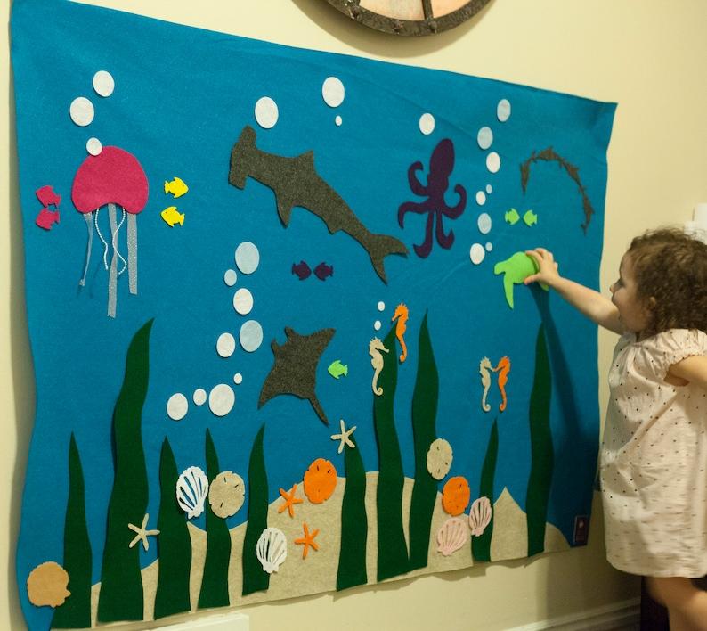 Ocean Felt Wall // Montessori Learning // Kids ages 3 4 5 6 image 0