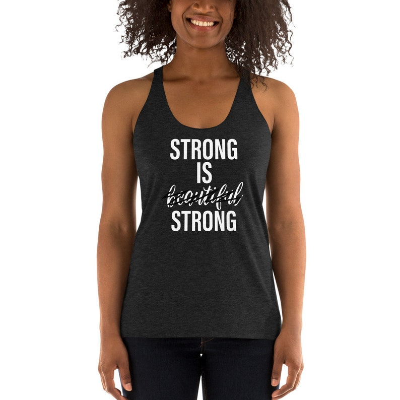 Strong is Strong // Women's Racerback Tank // Feminist image 0