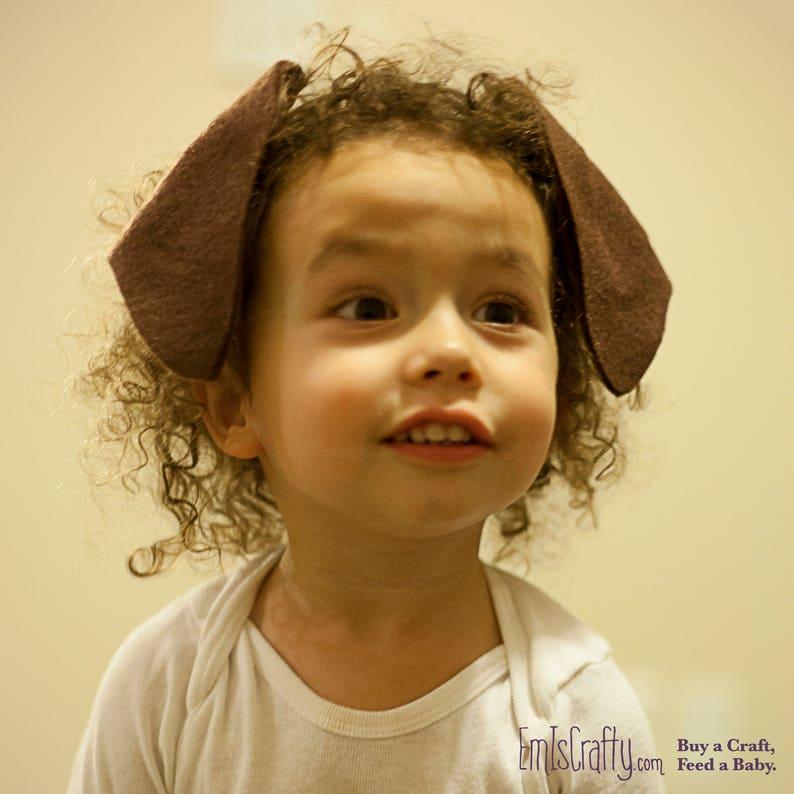Dog Ears Headband Women's Men's Kids Chocolate Lab image 0