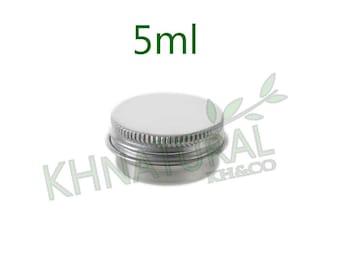 Empty Cosmetic Pots Jar Containers Tin Aluminium Silver 5ml