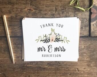 Wedding Thank You Cards. Customized Thank You Cards. Wedding Stationery. Floral Wedding Thank You's. Custom Wedding Cards.
