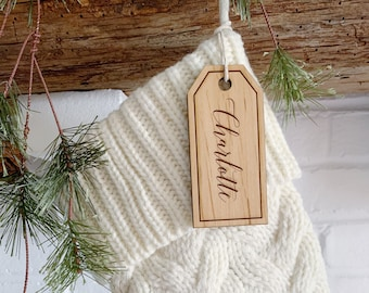 Christmas Stocking Name Tag Labels. Pet tag Wooden Stocking Name Tags. Personalized Christmas Tags Labels. Gift Tags. Personalized Gift Tags