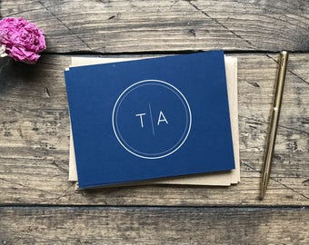 Modern Weddin Thank you Cards. Navy Wedding Cards. Wedding Gift. Bridal Shower Wedding Cards. Thank You Cards. Personalized Wedding Cards