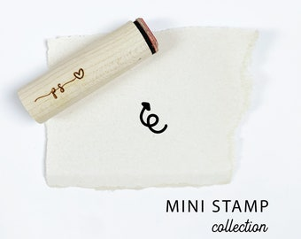 Cute Crooked Arrow Solid Rubber Stamp for Stamping Crafting Planners