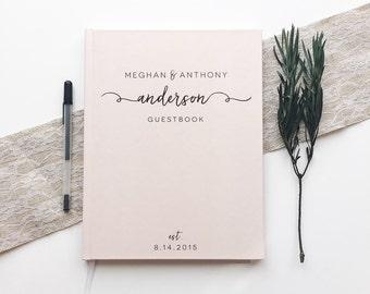 blush pink wedding guest book wedding guestbook custom wedding guest book wedding notebook bridal shower book wedding memory book