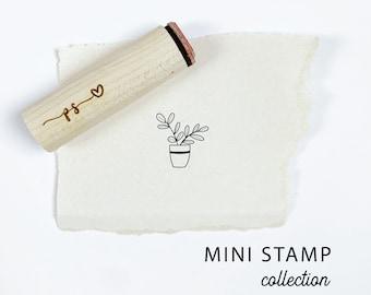 Mini PLANT POT Stamp. Rubber Planner Stamp. Bujo Bullet journaling stamp. Scrapbooking Stamp. Planner Stamp. Art Stamp.