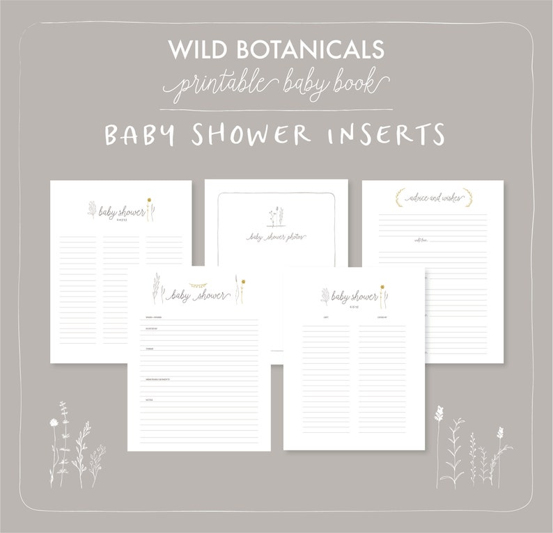 photo regarding Baby Shower Guest Book Printable named Kid Ebook Printable Template Boy or girl Shower Visitor Indication in just, Wants and Tips Card Child Ebook internet pages. Little one Shower Reward record Printable