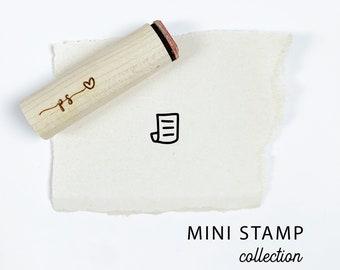 Mini NOTEBOOK Paper Stamp. Rubber planner stamp. Bujo bullet journaling stamp. Scrapbooking Stamp. Planner Stamp. Custom Rubber Stamp.