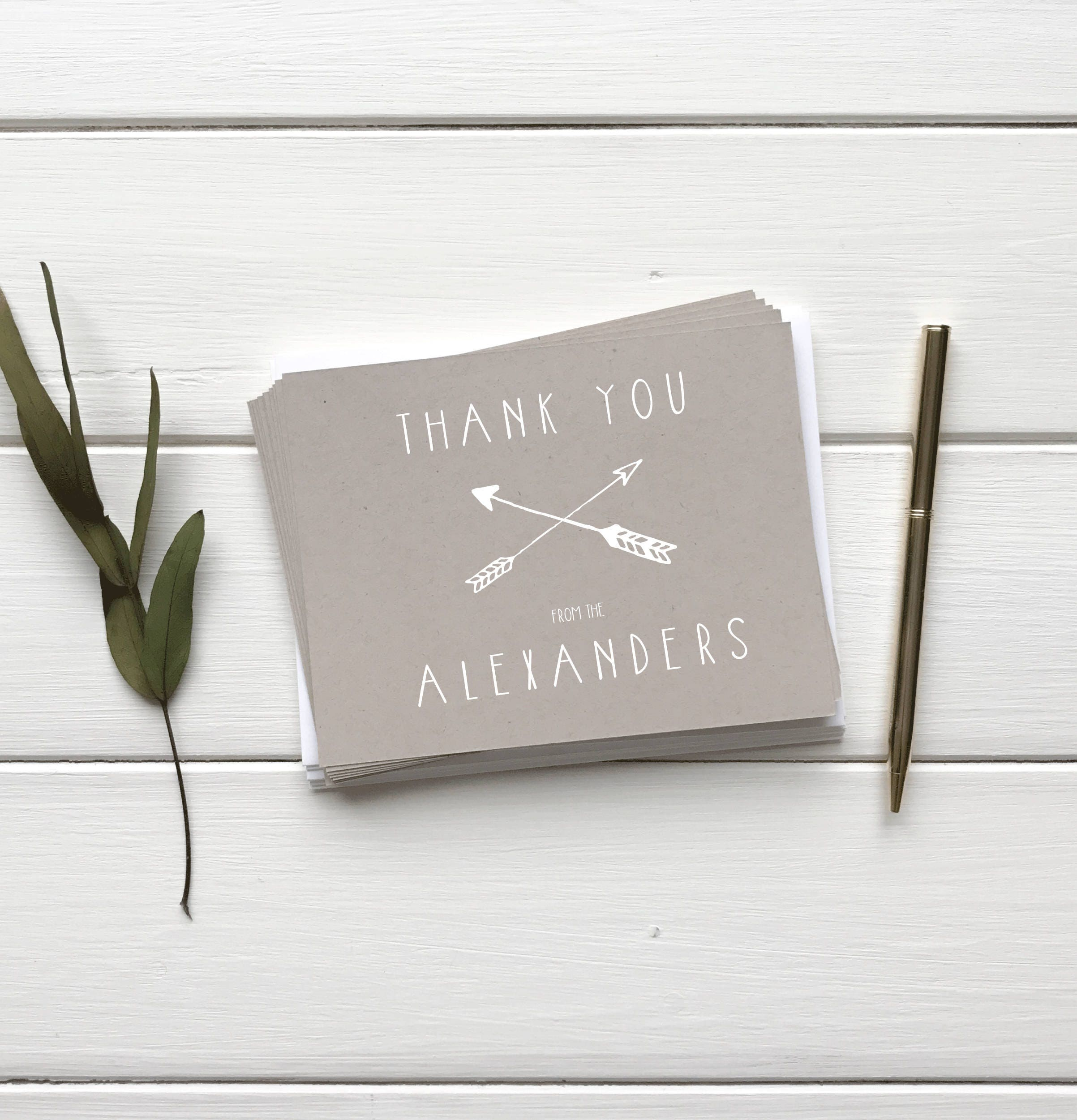 Rustic Weddng Thank You Cards Hipster Arrow Theme Wedding Etsy