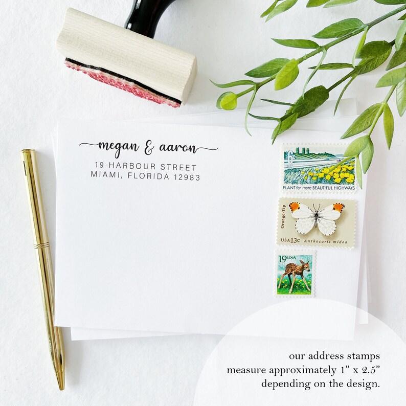 Calligraphy Stamp Custom Return Address Stamp Custom Self Inking Stamp Personalized Return Address Stamp Rubber Stamp Address.