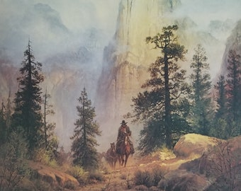 Land Of The Promise by Claire Goldrick Horses Western Landscape Ltd Edition 950